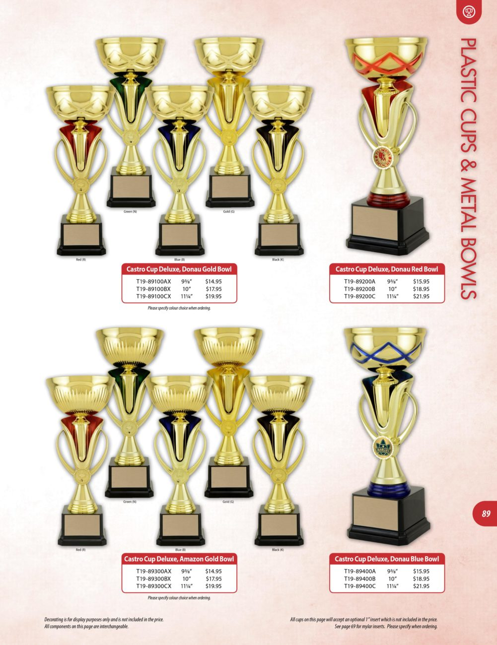 Cups – Olympic Trophies